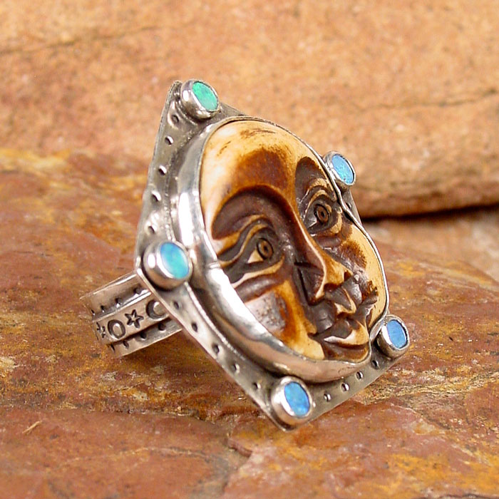 Happiness Moon Face Ring