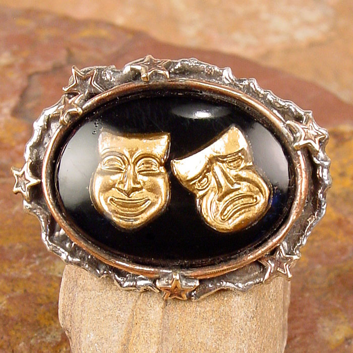 Comedy Tragedy Mask Ring