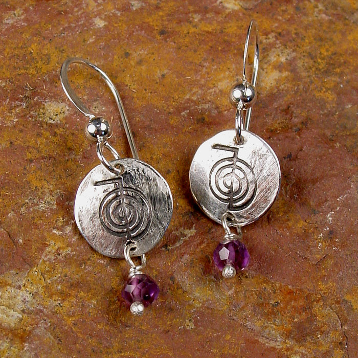 Reiki Energy Symbol Earrings