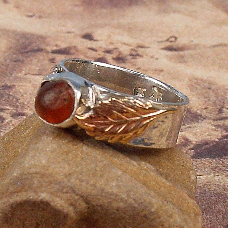 Autumn Leaves Hessonite Garnet Ring