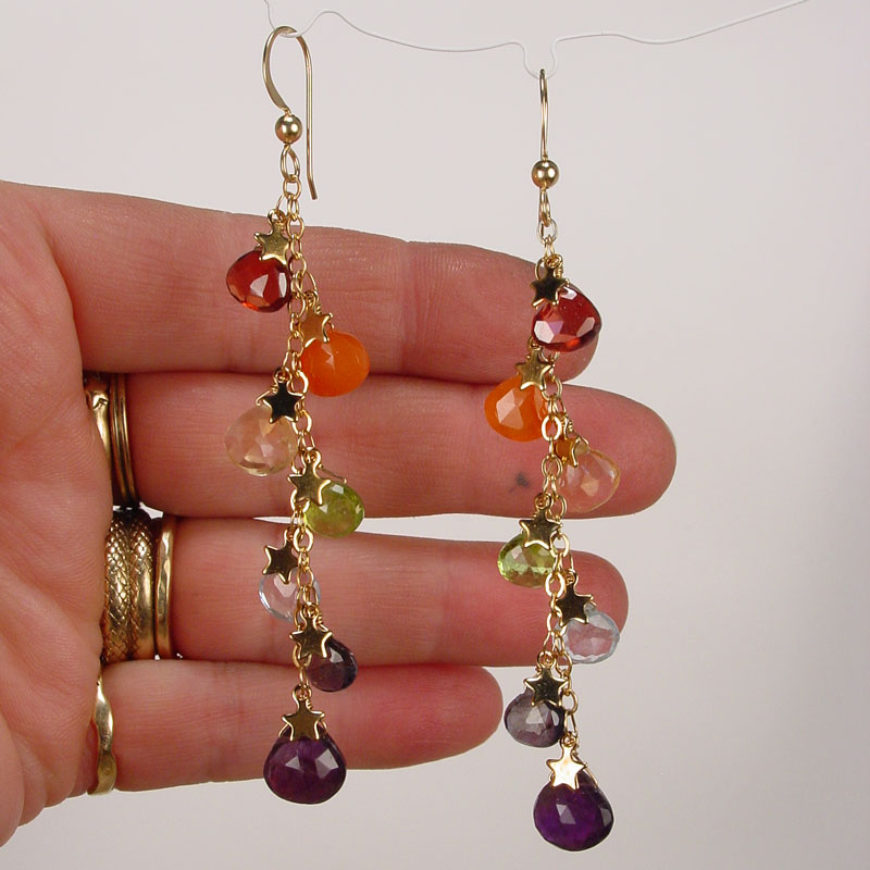 products vannucci pink and labradorite earrings cascade by justine amethyst design jewelry