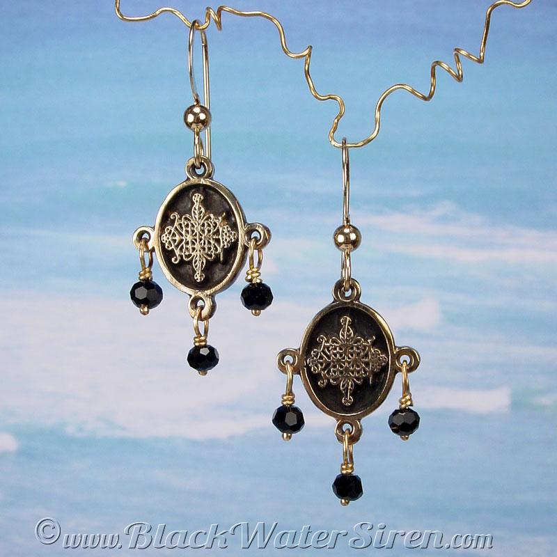 Papa legba chandelier earrings black water siren studio papa legba chandelier earrings aloadofball Choice Image