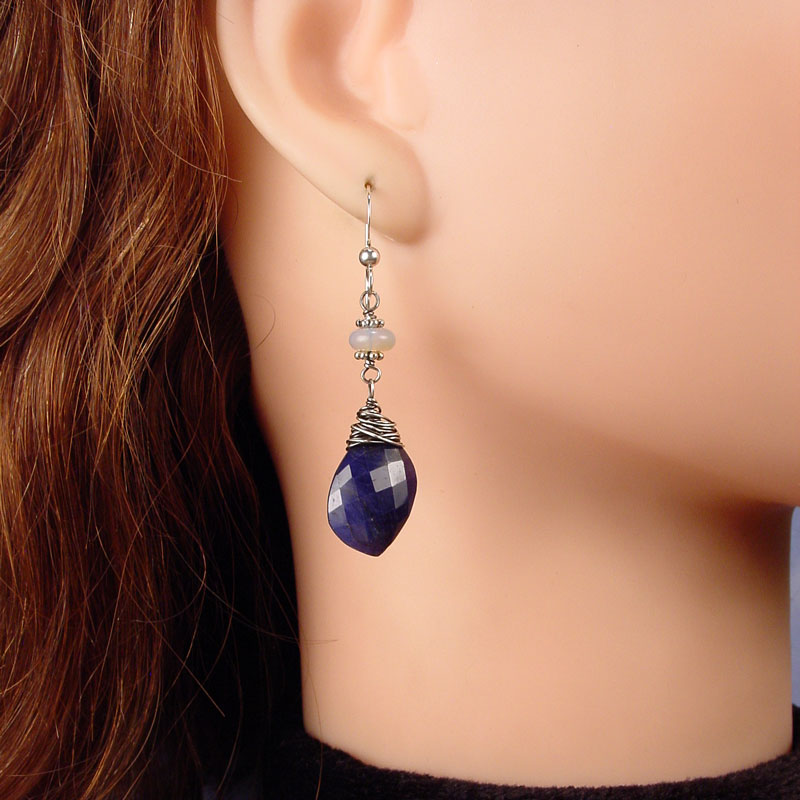 Sapphire leaf with opal black water siren studio for Sapphire studios jewelry reviews