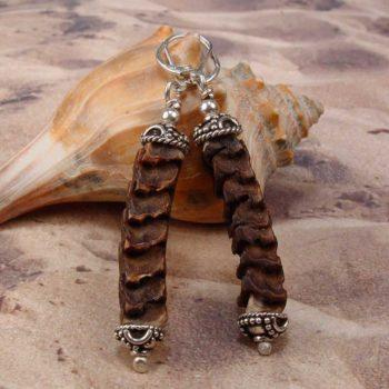 snake vertebrae earrings